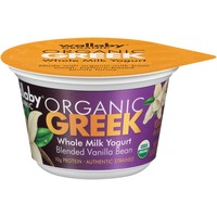 Wallaby Organic Greek Whole Milk Blended Vanilla Bean Yogurt