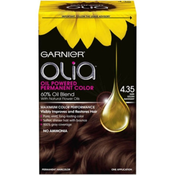 "Oliaâ""¢ 4.35 Dark Golden Mahogany Oil Powered Permanent Color"