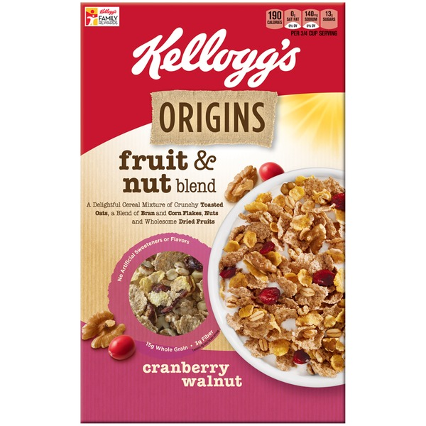Kellogg's Origins Fruit & Nut Blend Cranberry Walnut Cereal