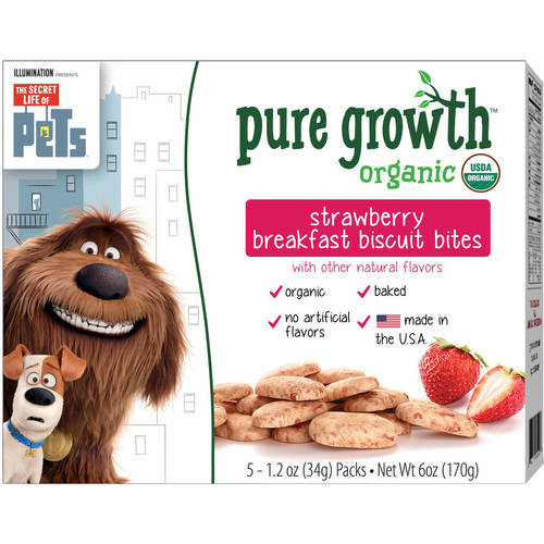 Pure Growth Pets Organic Strawberry Breakfast Biscuit Bites