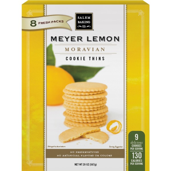 Salem Baking Company Moravian Meyer Lemon Cookie Thins