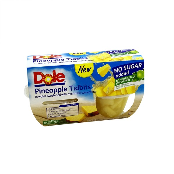 Dole Pineapple Tidbits, No Sugar Added