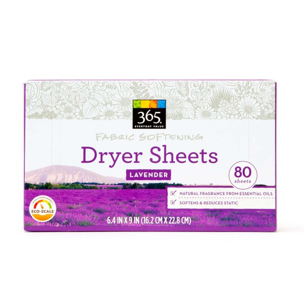365 Lavender Fabric Softening Dryer Sheets