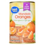 Great Value Whole Mandarin Oranges in Light Syrup, 15 oz