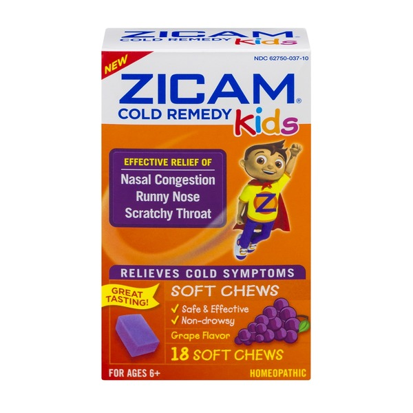 Zicam Cold Remedy Kids Soft Chews Grape Flavor - 18 CT