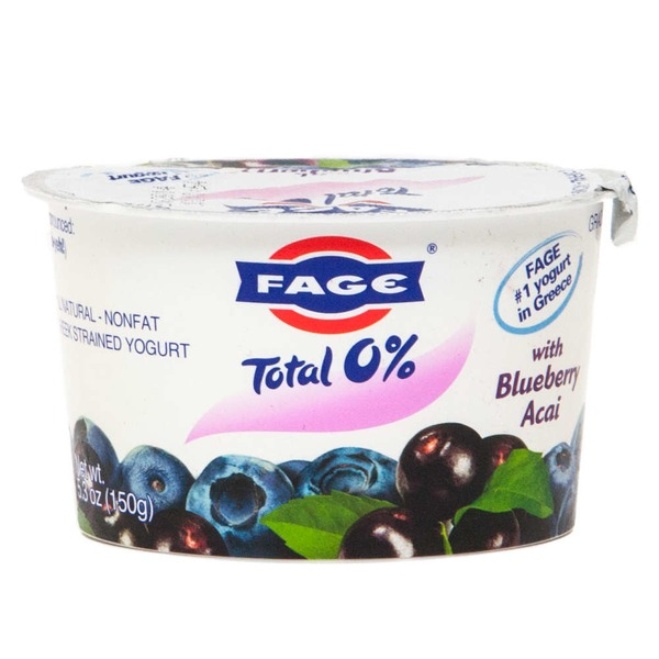 Fage Total 0% with Blueberry Acai Nonfat Greek Strained Yogurt
