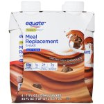 Equate Meal Replacement Shake, Chocolate, 11 Fl Oz, 2 Ct