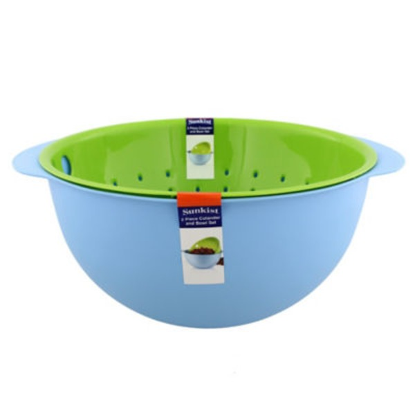Sunkist 2 In 1 Bowl And Colander Set 5.5 Qt