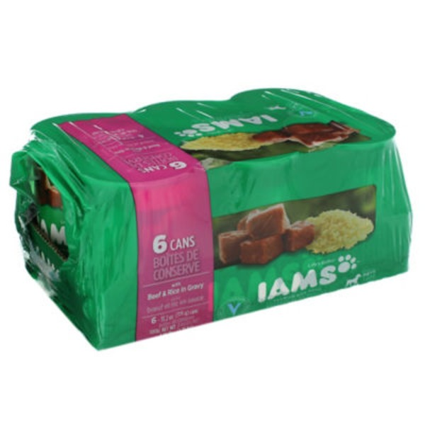 Iams Proactive Health Páté with Beef & Rice Dog Food