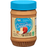 Great Value Reduced Fat Creamy Peanut Butter Spread