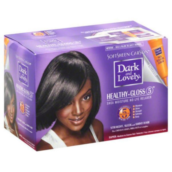 Dark and Lovely For Coarse Hair Healthy Gloss 5 Shea Moisture Relaxer - Super