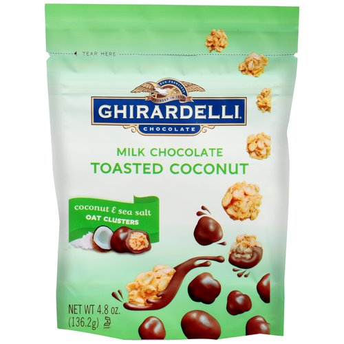 Ghirardelli Milk Chocolate Toasted Coconut Oat Clusters