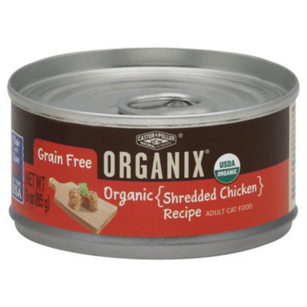 Organix Cat Food, Adult, Organic, Shredded Chicken Recipe