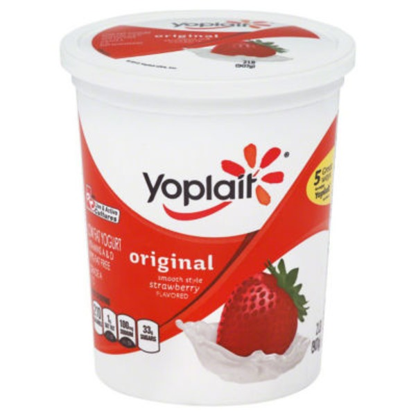 Yoplait Original Smooth Style Strawberry Flavored Low Fat Yogurt