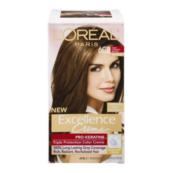 Excellence Creme 6CB Light Chestnut Brown Hair Color