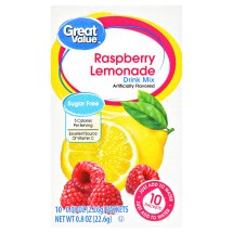 Great Value Drink Mix, Raspberry Lemonade, Sugar Free, 0.8 oz, 10 Count