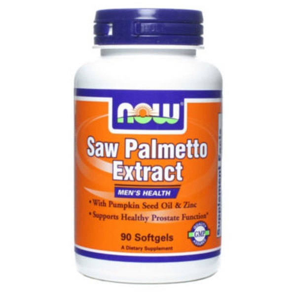 Now Saw Palmetto Extract with Pumpkin Seed Oil & Zinc Softgels