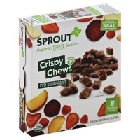 Sprouts Organic Toddler Snacks Crispy Chews Red Berry & Beet - 5 CT