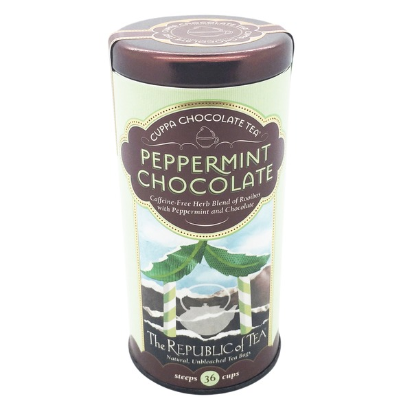 The Republic of Tea Peppermint Chocolate Caffeine Free Tea