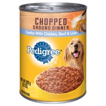 Pedigree Chopped Ground Dinner Combo With Chicken, Beef & Liver Wet Dog Food, 22 Oz.