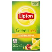 Lipton Lemon Ginseng Green Tea Bags 20 ct