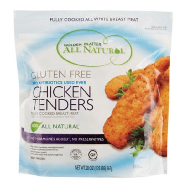 Golden Platter Chicken Tenders, All Natural, Gluten Free, Pouch