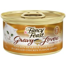Purina Fancy Feast Gravy Lovers Chicken Hearts & Liver Feast in Grilled Chicken Flavor Gravy Cat Food 3 oz. Can