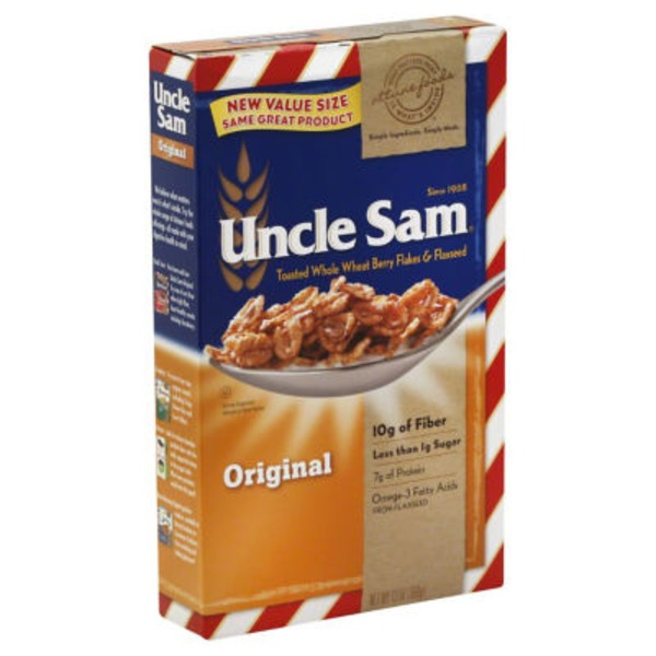 Uncle Sam Attune Foods Uncle Sam Original Toasted Whole Wheat Berry Flakes & Flaxseed Cereal