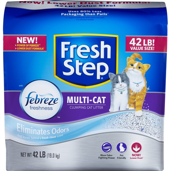 Fresh Step Cat Litter, Scoopable, Multi-Cat, Scented, Value Size!