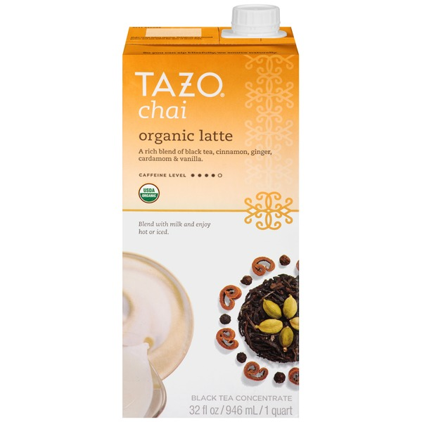 Tazo Tea Organic Chai Latte Black Tea Concentrate