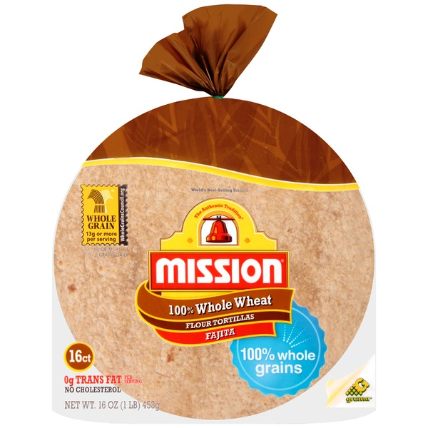 Mission 100% Whole Wheat Fajita Flour Tortillas