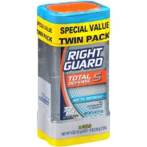 Right Guard Xtreme Defense 5 Antiperspirant Deodorant Gel, Arctic Refresh, 4 Ounce (Twin Pack)