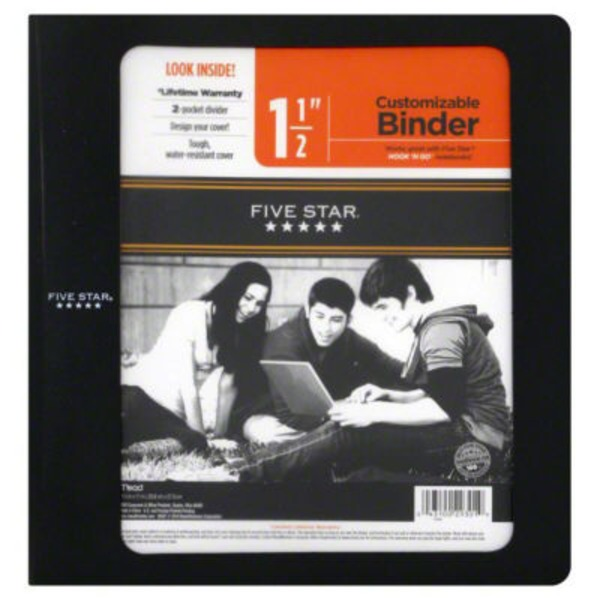 Mead Five Star 1 1/2 Customizable Binder