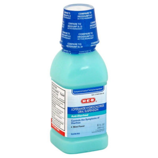 H-E-B Anti Diarrheal Oral Suspension Mint Flavor