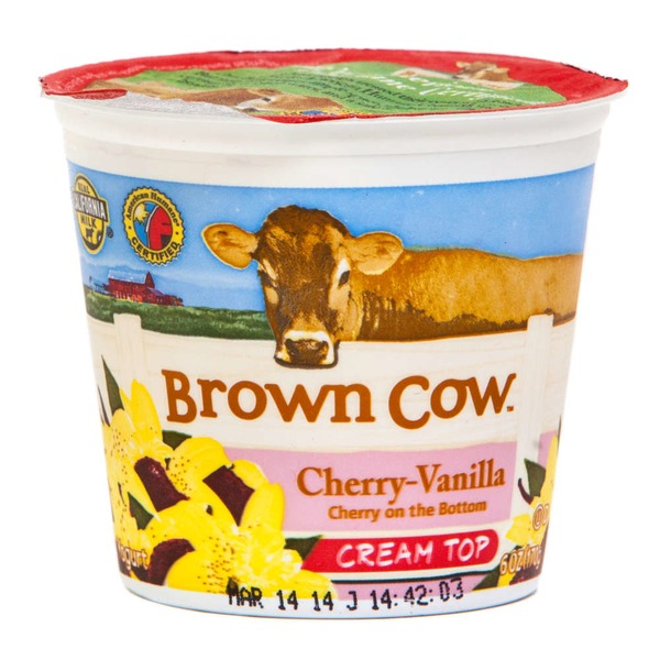 Brown Cow Cream Top Cherry Vanilla Whole Milk Yogurt