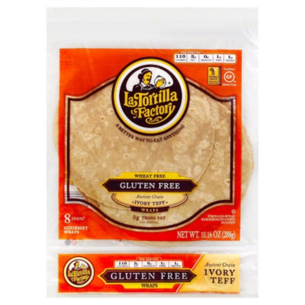 La Tortilla Factory Wheat Free Gluten Free Ancient Grain Ivory Teff Wraps