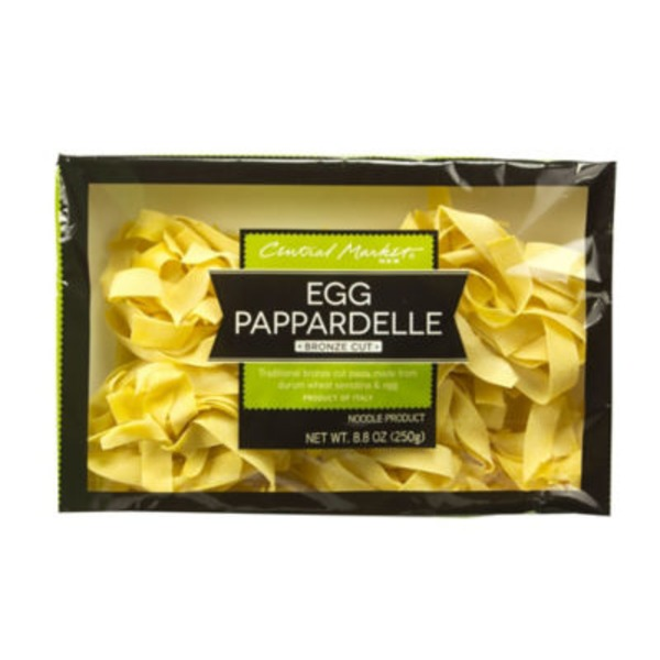 Central Market Egg Pappardelle Bronze Cut Noodles