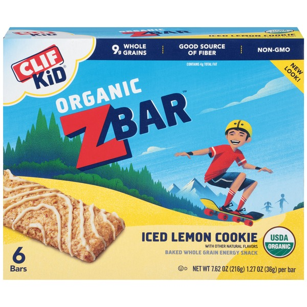 Clif Kid® Organic ZBar Iced Lemon Cookie Energy Snack