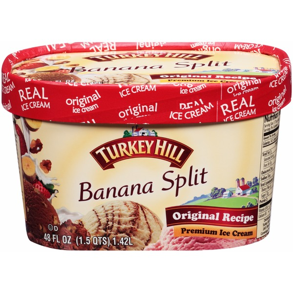 Turkey Hill Original Recipe Banana Split Ice Cream