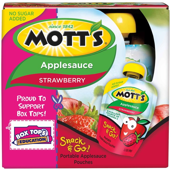Mott's Unsweetened Strawberry Applesauce