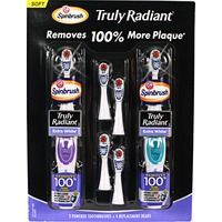 Arm & Hammer Truly Radiant Extra White with Replacement Heads Spinbrush Powered Toothbrush