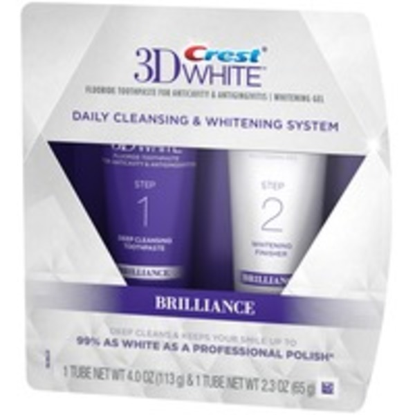 Crest 3D White Crest 3D White Brilliance Daily Cleansing Toothpaste and Whitening Gel System, 4.0oz and 2.3oz Dentifrice