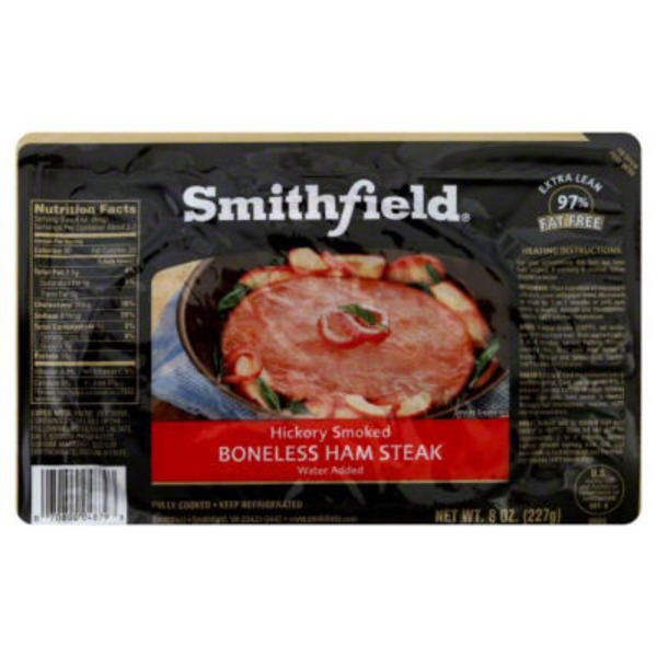 Smithfield Anytime Favorites Hickory Smoked Boneless Ham Steak