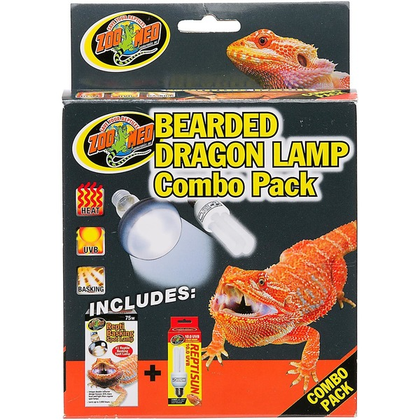 Zoo Med Bearded Dragon Lamp Combo Pack For Terrariums Up to 20 Gallons