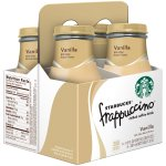 Starbucks Frappuccino Chilled Coffee Drink, Vanilla, 9.5 Fl Oz, 4 Count