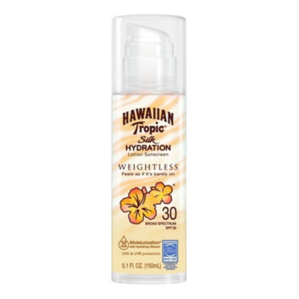 Hawaiian Tropic Silk Hydration Weightless SPF 30 Sunscreen Lotion