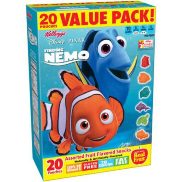 Kellogg's Disney/Pixar Finding Dory Assorted Fruit Flavored Snacks