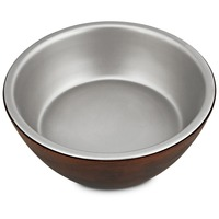 Harmony 3 Cup Wood Dog Bowl