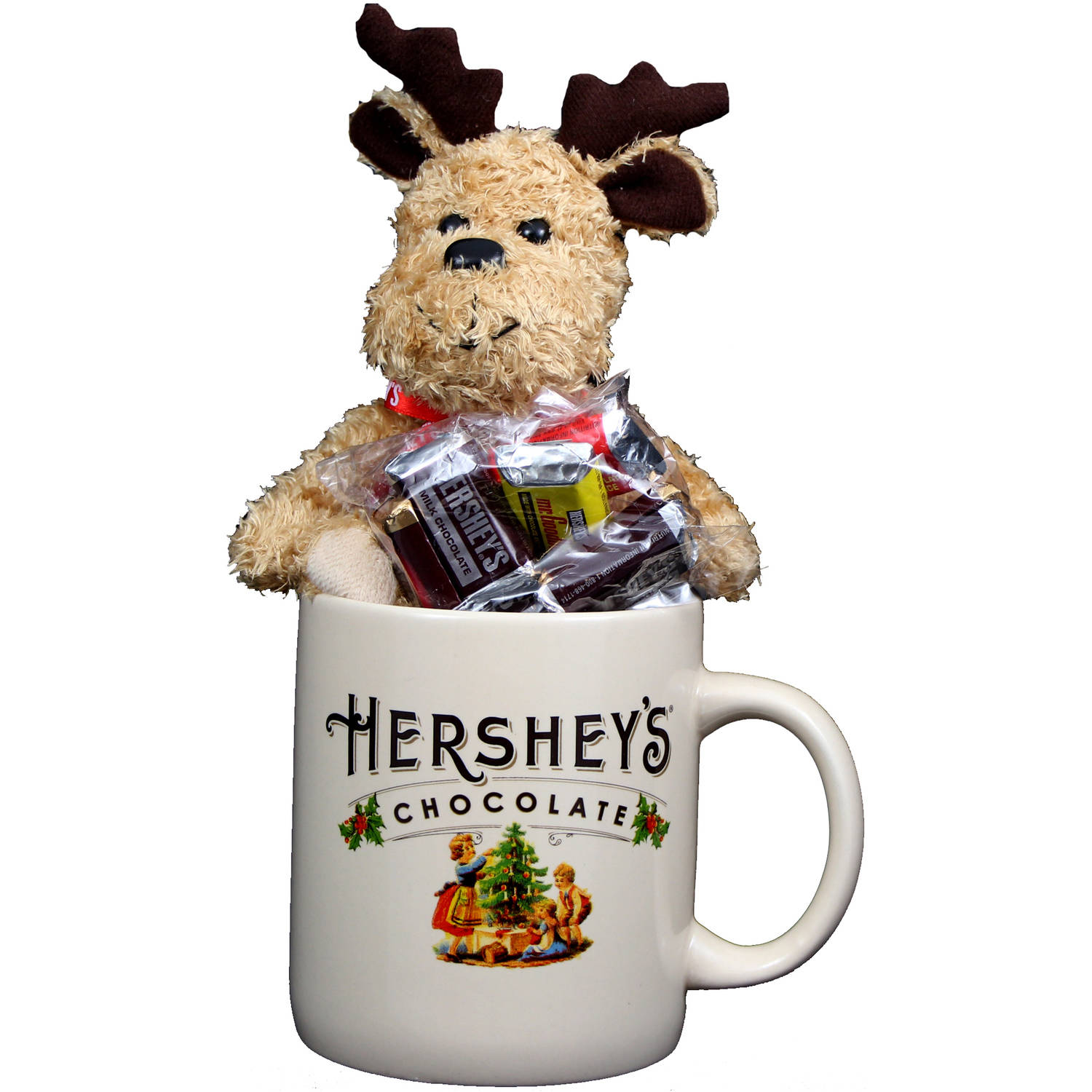Galerie Hershey's Cream Jumbo Mug with Milk Chocolate Candy and Plush