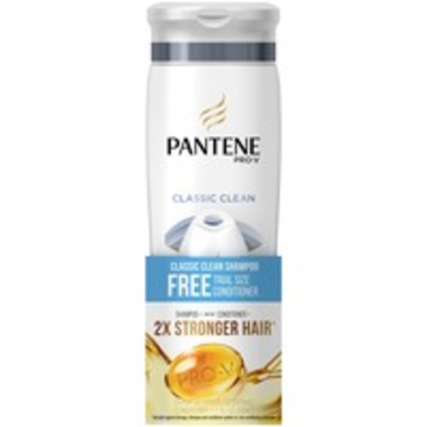 Pantene Classic Pantene Classic Clean Daily Shampoo With Trial Size Classic Clean Daily Conditioner Kit  Female Hair Care